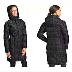 North Face 550 Metropolis Parka Goose Down Puffer Coat Black